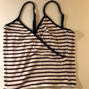 GARAGE ribbed red/white/blue striped tank top